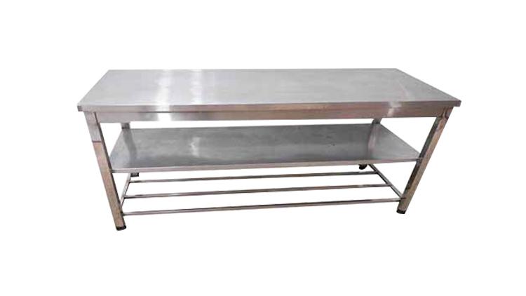میز کار استیل یک و نیم متری عریض طبقه دار  , تجهیزات آماده سازی رستوران و آشپزخانه