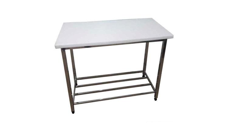 میز کار استیل یک و نه دهم متری عریض , تجهیزات آماده سازی رستوران و آشپزخانه