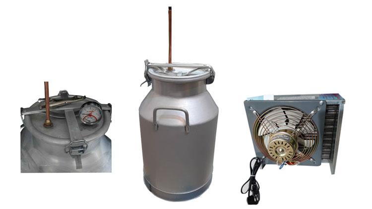 دستگاه عرقگیری 40 لیتری چهار چفت با کنداسور برقی و ترمومتر
