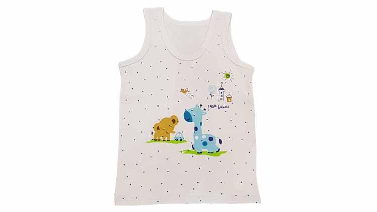 دوبل رکابی نوزادی طرح فیل و زرافه  , پوشاک بچهگانه