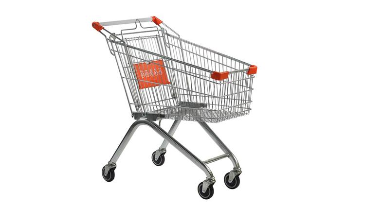 چرخ خرید فروشگاهی نیکل کروم