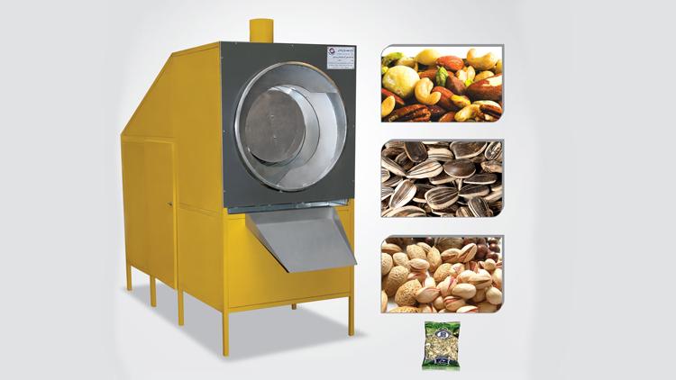دستگاه شور کن و تفت و برشته کن خشکبار مدل ssn2004 , دستگاه پخت و تفت آجیل و خشکبار
