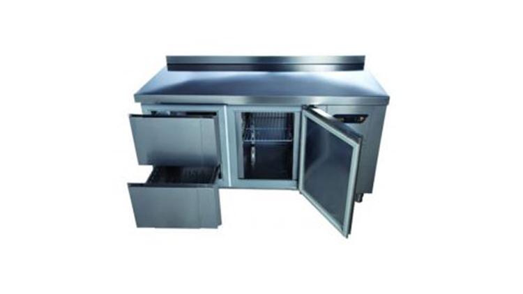 یخچال میز کار ۱۵۰ سانتی ۲ کشو و یک درب انداستریو