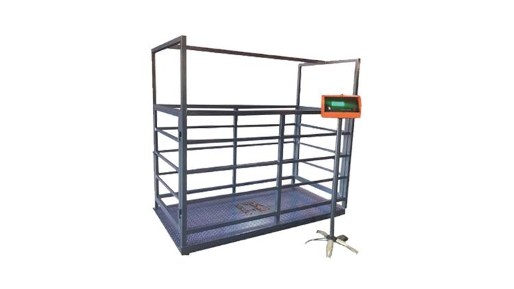 دستگاه باسکول 4 لودسل کفی قفس دار 100