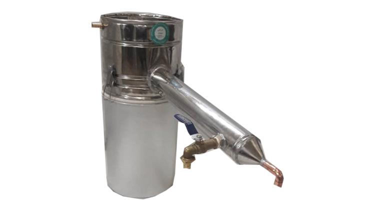 دستگاه تقطیر و دستگاه عرق گیری لوله بلند دوجداره 20 لیتری