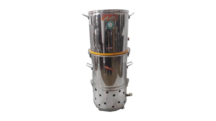 دستگاه تقطیر و دستگاه عرق گیری 10 لیتری  مشعل سر خود