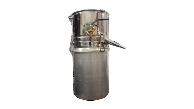 دستگاه تقطیر و دستگاه عرق گیری سایز دو 20 لیتری با بست و واشر