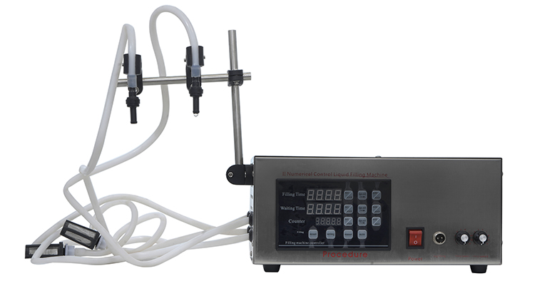 دستگاه پرکن مایعات رقیق و غلیظ دو نازل روغن و مایعات مدل AG-FH2