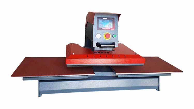 دستگاه پرس حرارتی 80در100 هیدرولیک دو میز , صنایع نساجی و بافندگی