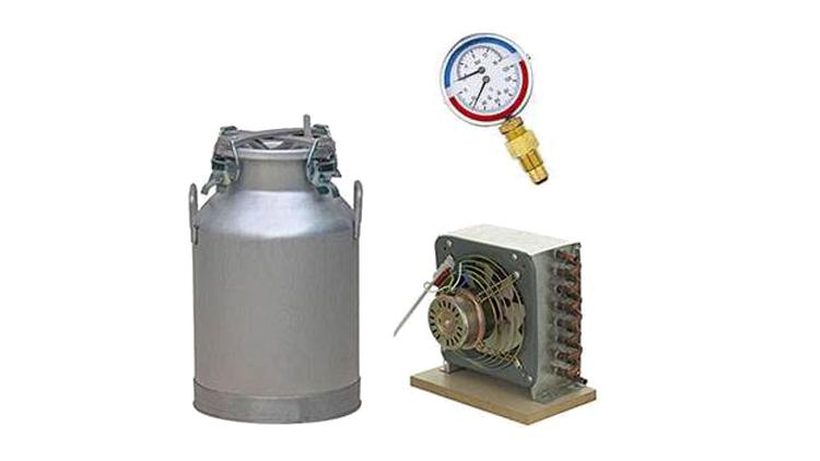 دستگاه تقطیر و عرق گیری 100 لیتری 4 چفت با 2 خروجی و کنداسور برقی و سایز 6 و ترمومانومتر مدل 22213