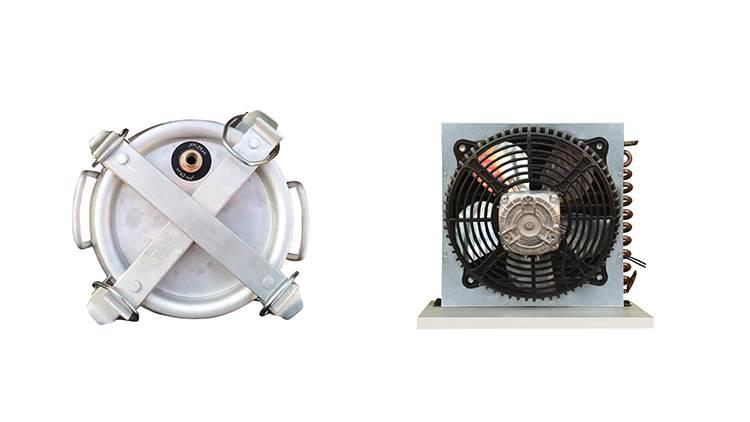 دستگاه تقطیر و دستگاه عرق گیری 50 لیتری با کندانسور برقی با ترمومتر مدل 21637