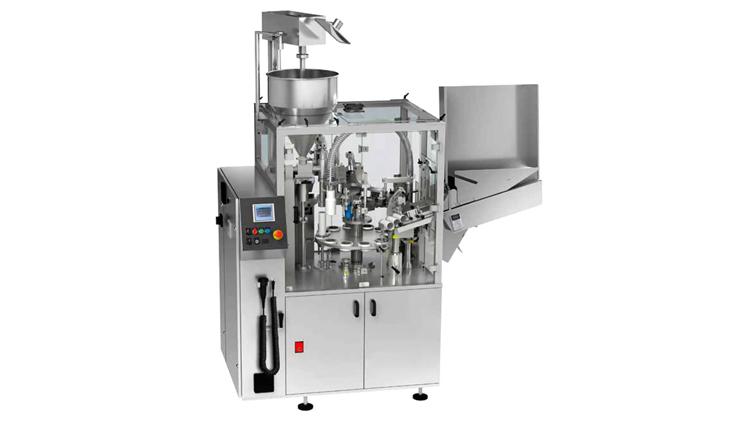 دستگاه پرکن مایعات غلیظ و انواع تیوپ اتوماتیک همراه با سیستم تنظیم چاپ مدل RTU40