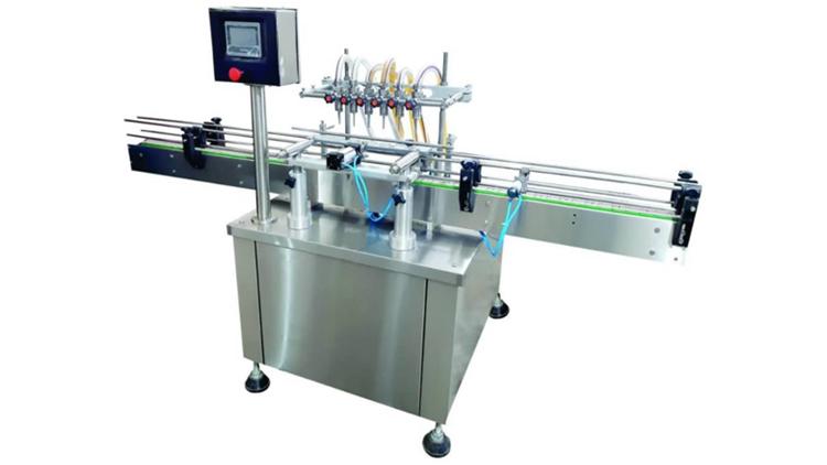دستگاه پرکن مایعات غلیظ پمپی خطی اتوماتیک با نوار نقاله 5 متری مدل 21719