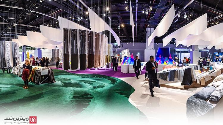 برپایی نمایشگاه های صنعت نساجی در داخل و خارج از کشور می تواند بخشی از این مشکلات را جبران کند، نمایشگاه فرانکفورت برای صنعت نساجی یکبار در سال برگزار میشود