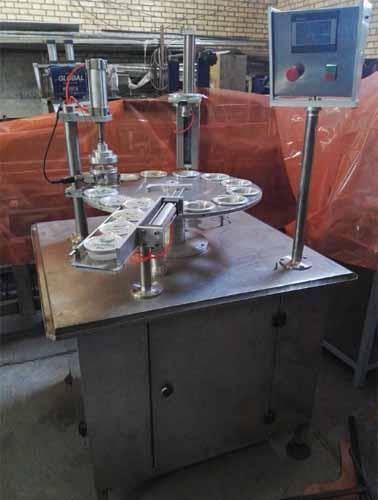دستگاه پرکن لیوانی روتاری جهت بسته بندی تمام اتوماتیک ظروف لیوانی گرد و چهارگوش می باشد