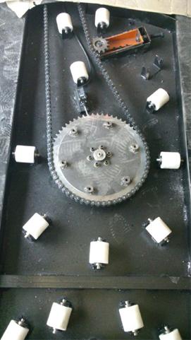 رنگ دستگاه استرچ  پالت اتوماتیک 3 تن از نوع الکترواستاتیک کوره ای می باشد.