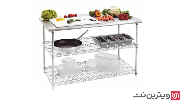 فروش انواع میز کار استیل آشپزخانه های صنعتی در ویترین نت