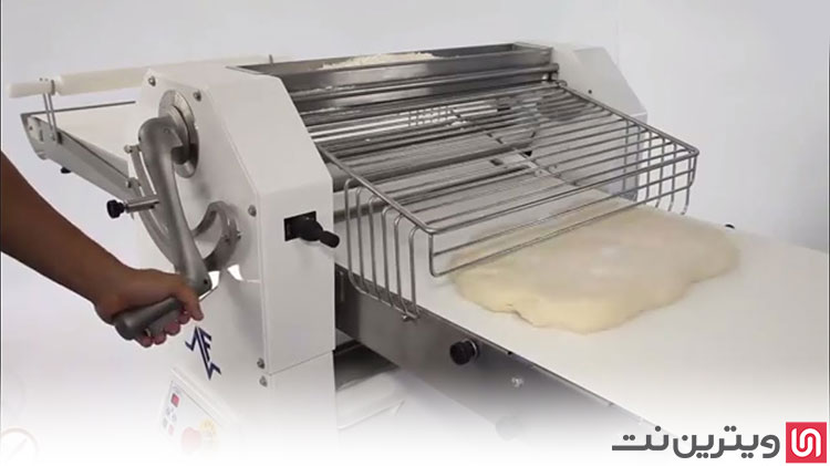 خمیر پهن کن یا دستگاه وردنه برقی در تجهیزات نانوایی و قنادی کاربرد داره.