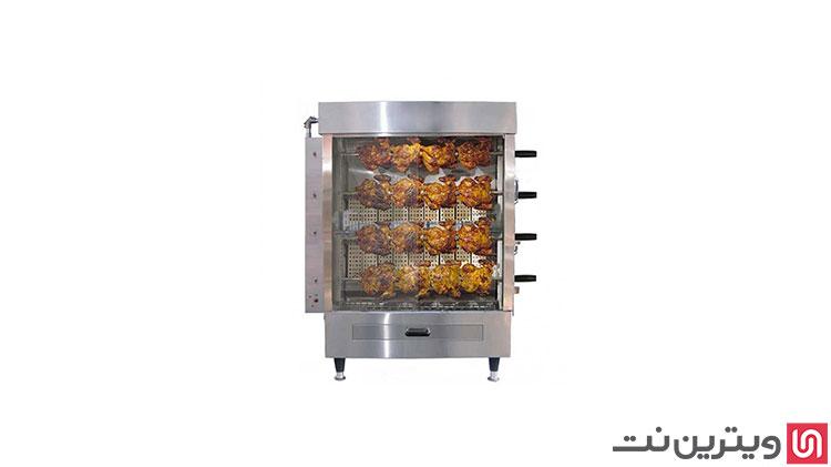 دستگاه مرغ بریان 4 سیخ در ویترین نت موجود شد.