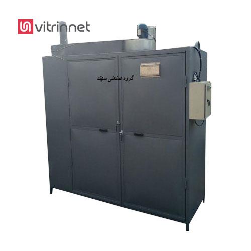 دستگاه خشک کن میوه و سبزیجات کابینتی قابلیت خشک کردن 200-300 کیلو محصول تازه مانند انواع میوه و سبزی در هر نوبت را دارد