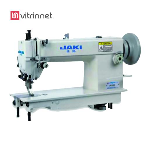 راسته دوز دوپایه میل بلند فوق ضخیم جکی JR0303 از محصولات چرخ خیاطی جکی می باشد.