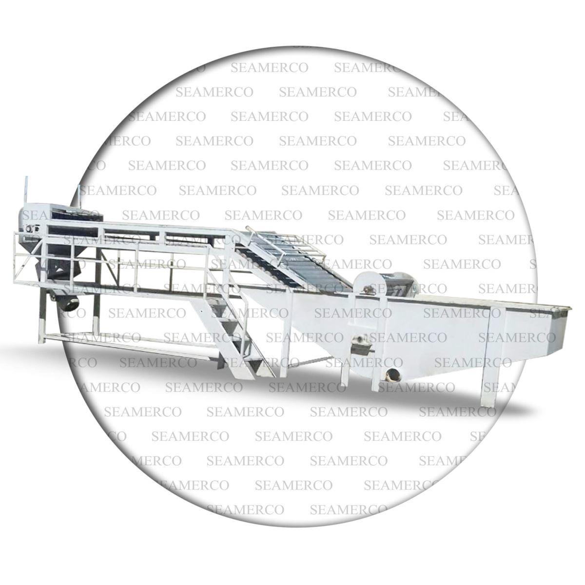 کانال شستشو-نوار سورتینگ-تجهیزات کارخانه رب گوجه فرنگی-کانال شستشوی گوجه فرنگی-