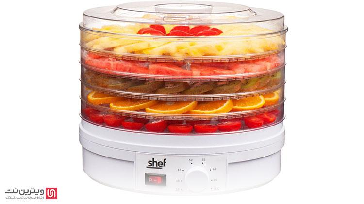 دستگاه میوه خشک کنی خانگی، دستگاههای کوچکی هستند که به طور معمول دارای 5 یا 6 طبقه هستند و با برق کار میکنند.