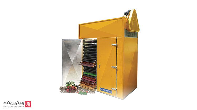 دستگاه خشک کن کابینی برای تولید با ظرفیت پایین و کارگاه های کوچک کاربرد دارد.