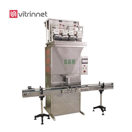 دستگاه قوطی پرکن چهار توزین گرانولی برای بسته بندی انواع مواد گرانولی مانند شکر، نمک استفاده میشود.