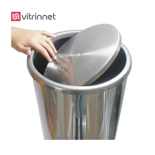 سطل زباله استیل دارای ظرفیت 30 لیتر است