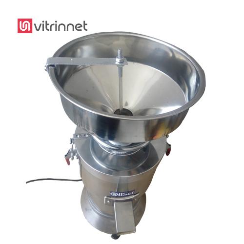 در دستگاه ارده گیر تمام استیل  از دو سنگ دوار در ارده گیری استفاده شده است