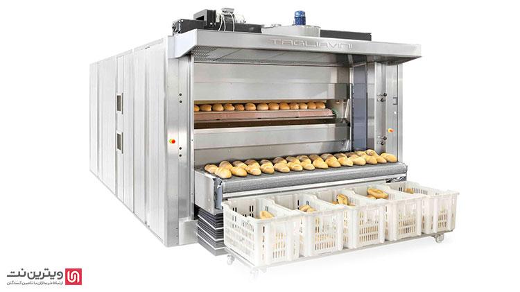برای پخت نان به وسیله فر تونلی کافی است سرعت حرکت ریل ها در داخل این تونل و همچنین درجه حرارت فر را تنظیم کنید.