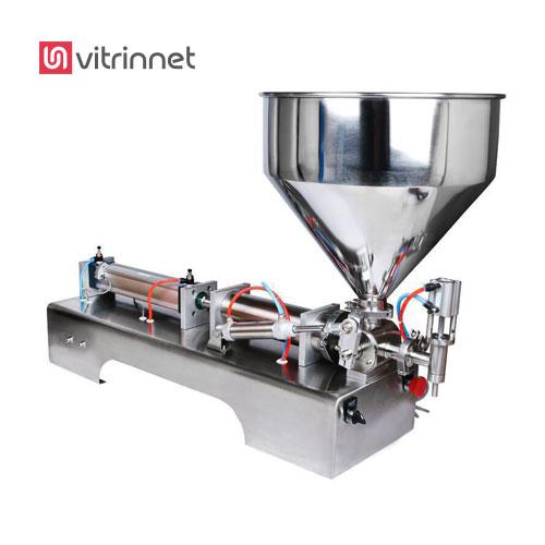 دستگاه پرکن پنوماتیک روغن با مخزن مدل AG-FBT ، مناسب برای مواد رقیق و غلیظ است