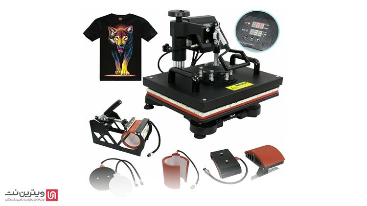 از دستگاه پرس حرارتی پارچه برای چاپ انواع طرح بر روی انواع جنسهای مختلف پارچه و همچنین محصولات مختلف استفاده میشود