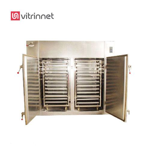 دستگاه خشک کن میوه و سبزی دو کابین در ظرفیت های چند صد کیلو تا چند تن تولید می شوند