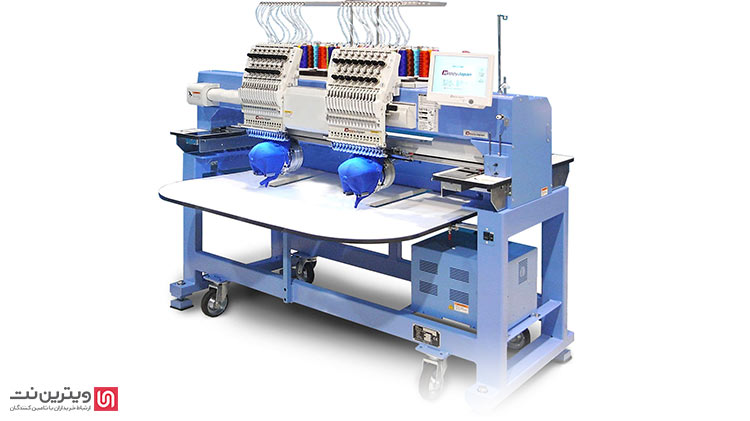 ماشین گلدوزی چند کله قابلیت دوخت 9 تا 15 رنگ روی انواع پارچه ها را دارد.