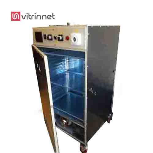 دستگاه خشک کن میوه و سبزی دارای 20 عدد سینی به ابعاد 40*60 سانتیمتر است
