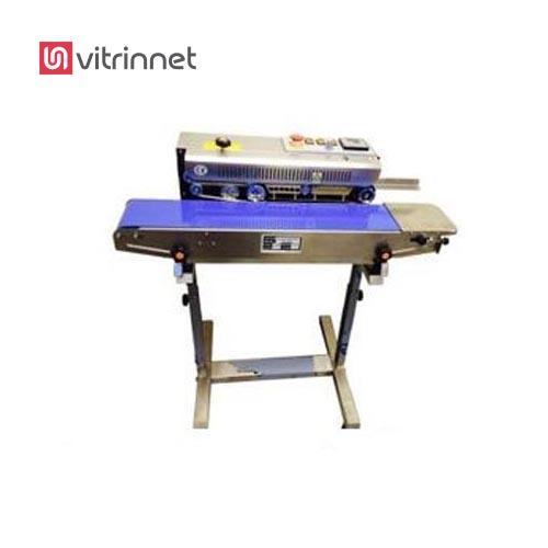 دستگاه پلمپ پلاستیک نایلون ریلی افقی استیل مدل 1399