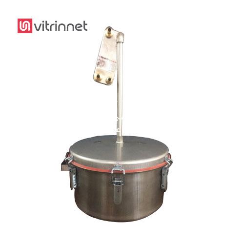 دستگاه گلابگیری 18 لیتری تمام استیل با خروجی عرق کاملا خنک و مصرف آب فوق العاده پایین است.