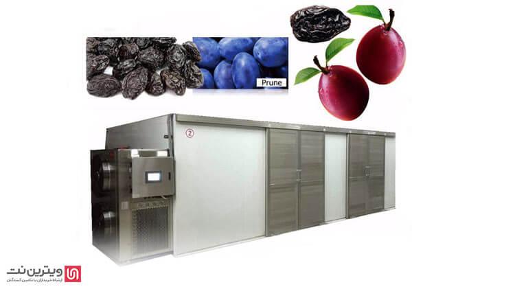 خشک کن صنعتی میوه و سبزیجات در ابعاد صنعتی در خشك كردن انواع محصولات كشاورزي، مواد غذائي، موادشيميايي، و محصولات داروئي کاربرد دارد.