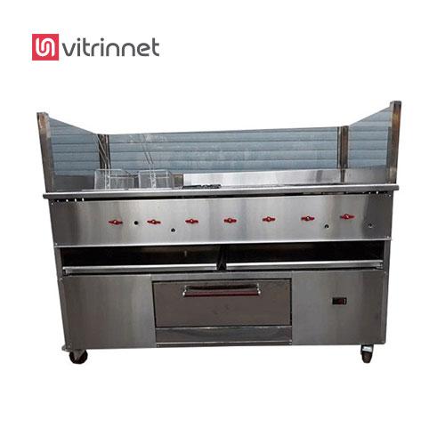 تاپینگ پیتزا هشت لگن زیر یخچال یکی از کارآمد ترین وسایل آشپزخانههای صنعتی است