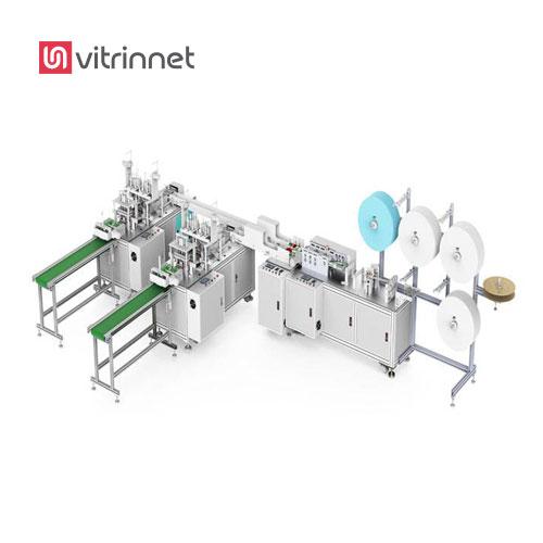 خط تولید تمام اتومات ماسک پرستاری یکی از خطوط تولید مکانیزه ماسک سه لایه کش دار است.