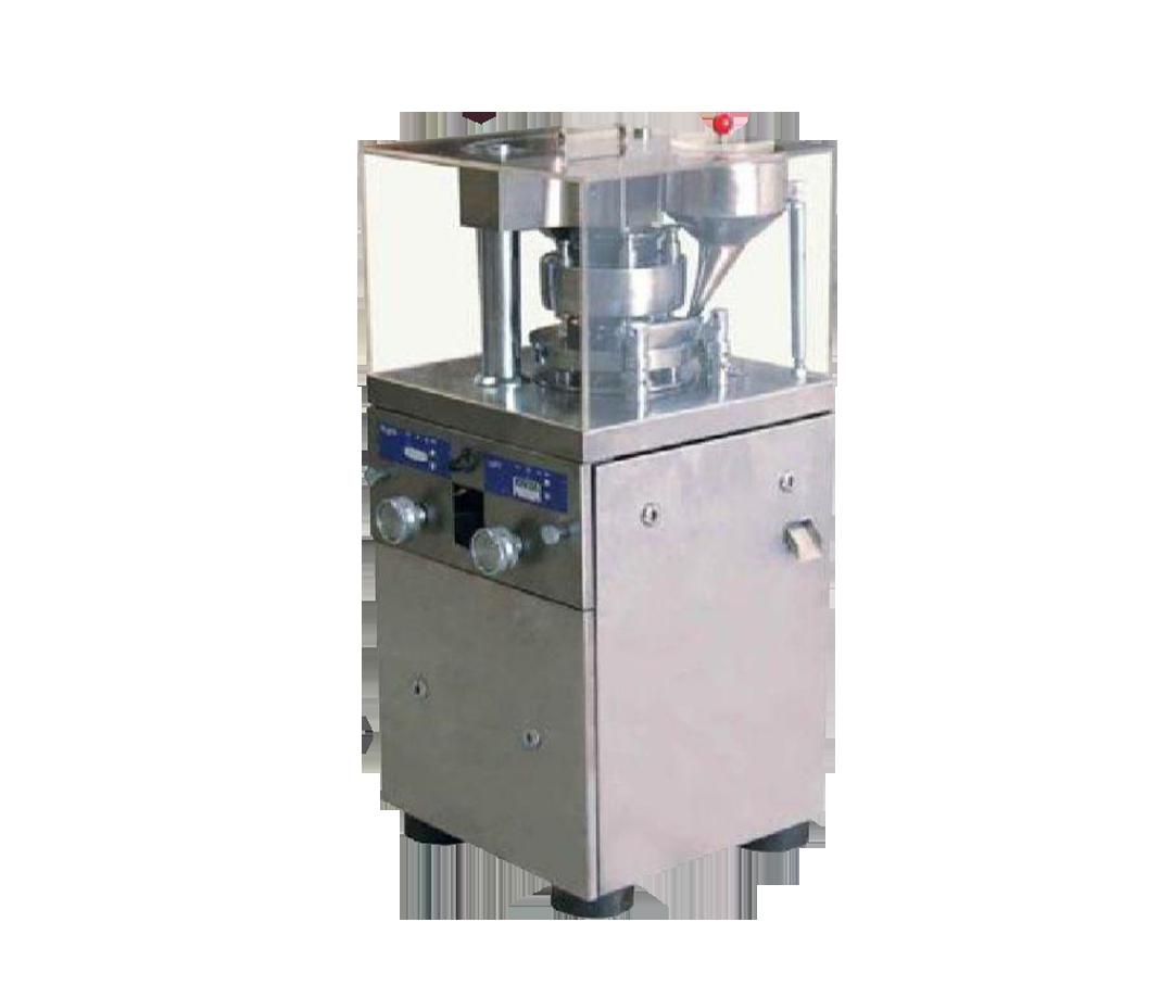 در دستگاه قرص ساز روتاری قرص ها با فشرده شدن پودر در داخل یک قالب توسط یک پانچ تولید میشوند