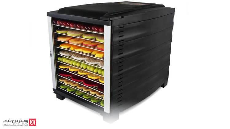 معرفی دستگاه خشک کن میوه و سبزیجات-دستگاه خشک کن میوه و سبزیجات، دارای امکانات اساسی یعنی ایجاد گرما، فن جهت به گردش در آوردن هوای گرم، تهویه هوا و سینی حاوی میوه و سبزی می باشد.