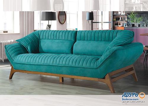جنس پارچه مبل راحتی تخت خوابشو مدل آهور از چرم است