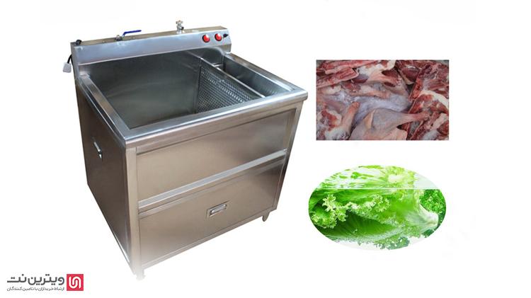 از وان شستشوی دیگر مواد غذایی برای برخی مواد غذایی همانند مرغ و گوشت استفاده می شود.