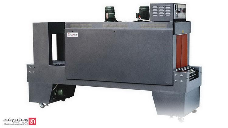 دستگاه شیرینگ تونلی به علت نداشتن فک دوخت، سرعت بیشتری نسبت به مدل کابینتی دارد. مورد استفاده این نوع دستگاه شیرینگ در بنگاههای صنعتی است.