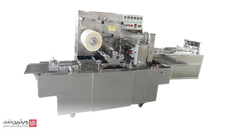 دستگاه بسته بندی سلفون از رو نیمه اتوماتیک حرارتی جهت روکش سلفونی انواع جعبه در اندازه های مختلف مناسب می باشد