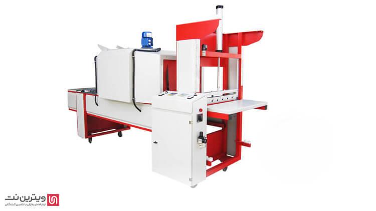 دستگاه شیرینگ نیمه اتومات شرکت کیان ایده جهت بسته بندی انواع باکسها وظروف مواد غذایی و صنعتی کاربرد دارد
