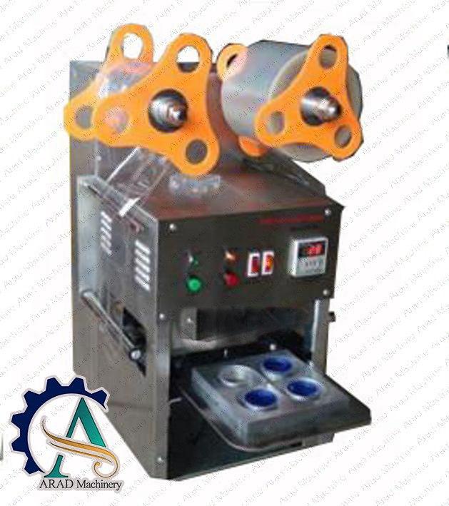 دستگاه سیل لیوان نیمه اتوماتیک و دارای قابلیت بسته بندی انواع مایعات ترشیجات و لبنیات است .